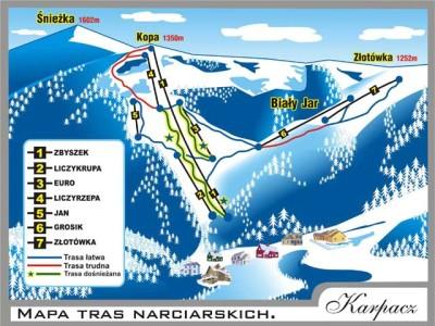 Mapa Tras Narciarskich Karpacz